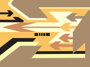 Abstract Vector Banner Of Arrow