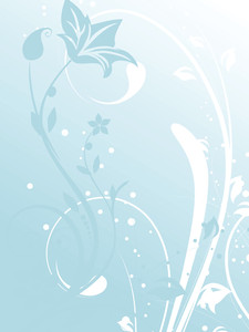 Abstract Vector Floral Banner In Green