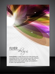 Abstract Vector Flyer Design.