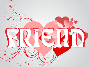 Abstract Vector Friendship Day Series With Floral In Red