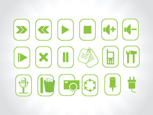 Abstract Vector Green Logo Element Illustrations