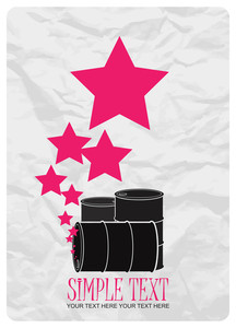 Abstract Vector Illustration Of Barrels  And Stars.