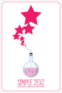 Abstract Vector Illustration Of Flask And Stars.
