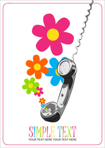 Abstract Vector Illustration With Letefonny Tube And Flowers.