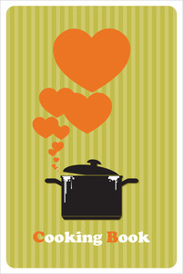 Abstract Vector Illustration With Pan And Hearts.