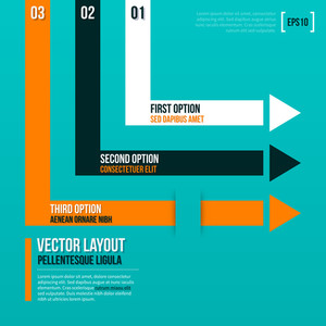 Abstract Vector Layout With Three Arrows.