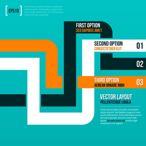 Abstract Vector Layout With Three Lines.
