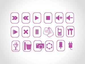 Abstract Vector Purple Logo Element Illustrations