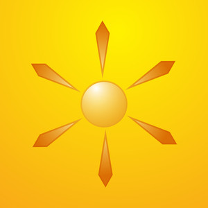 Abstract Vector Sun Design