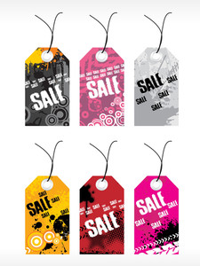 Abstract Vector Tag Series Set3