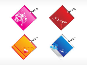 Abstract Vector Tags Illustration