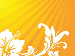 Abstract Vector Wallpaper Of Floral Themes In Yellow