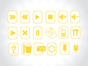 Abstract Vector Yellow Logo Element Illustrations