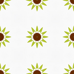 Abstract Vintage Floral Pattern