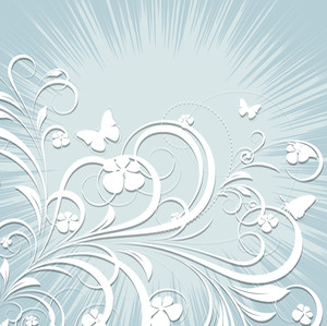 Abstract Vintage Flourish Background
