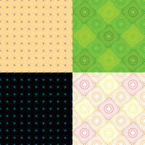 Abstract Vintage Seamless Pattern Set. Vector Illustration.