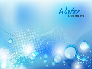 Abstract Water Background With Bubbles. Can Be Use As Flyer