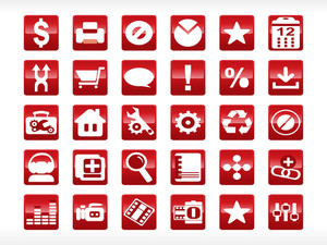 Abstract Web Icon Series Set