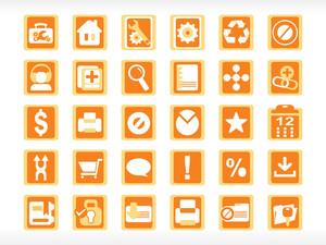 Abstract Web Icon Set Series Orange
