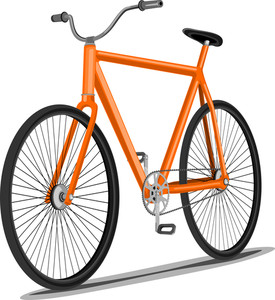 Abstract White Background With Isolated Bicycle