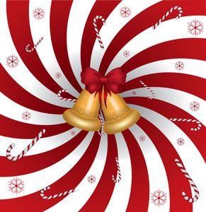 Abstract Winter Candy Background