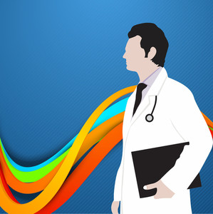 Abstract World Health Day Concept With Illustration Of Doctor.