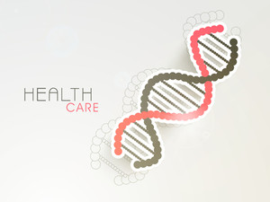 Abstract World Heath Day Concept With Colorful Dna.