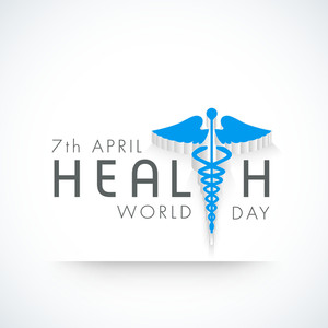 Abstract World Heath Day Concept With Medical Symbol And Stylish Text On Grey Background.