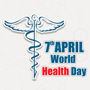 Abstract World Heath Day Concept With Medical Symbol On Brown Background.