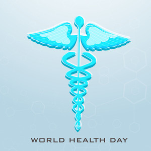 Abstract World Heath Day Concept With Medical Symbol.