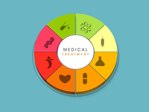 Abstract World Heath Day Concept With Medical Treatment Symbol.