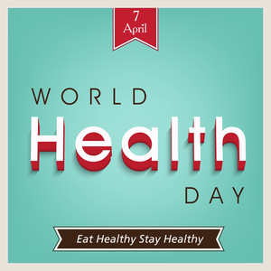 Abstract World Heath Day Concept With Stylish Text On Green Background