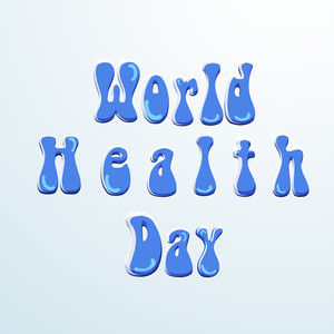 Abstract World Heath Day Concept With Stylish Text On Grey Background.