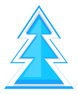 Abstract Xmas Tree Vector Design