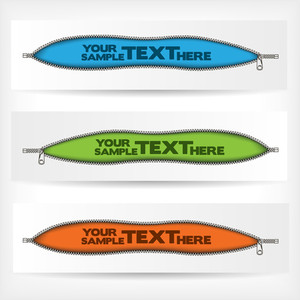 Abstract Zipper Banners Set