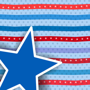 Abstractl Retro Pattern For Independence Day.