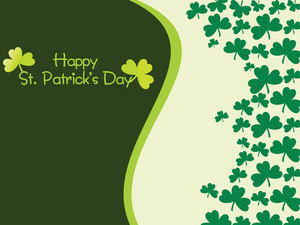 Accent Shamrock Background 17 March