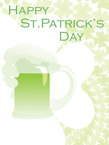 Accent Shamrock Vector Design With Mug 17 March