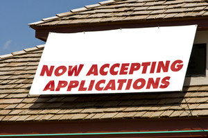 Accepting Applications Banner With Copy Space