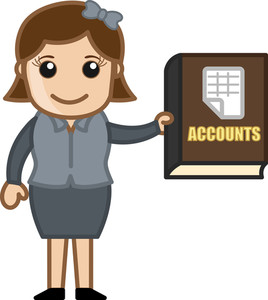 Accounts Book - Business Cartoons Vectors