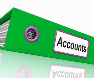Accounts File Shows Accounting Profit And Expenses