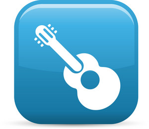 Acoustic Guitar Elements Glossy Icon