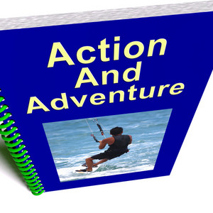 Action And Adventure Book Shows Extreme Exciting Sports