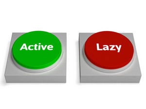 Active Lazy Buttons Shows Action Or Inaction