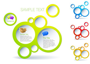 Actual Web-design Template. Vector Bubble Blocks.