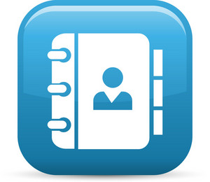 Address Book Elements Glossy Icon