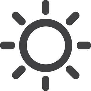 Adjust Brightness Stroke Icon