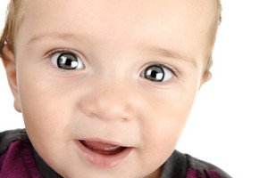 Adorable baby, closeup face, portrait