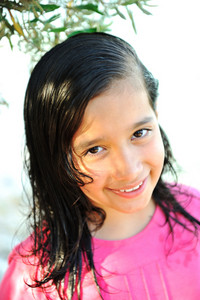 Adorable portrait of little beautiful girl