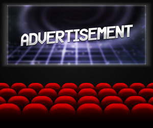 Advertisment In Cinema Background